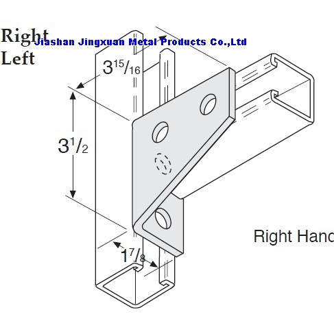 4 Hole Cornenr Gusset Strut Fitting
